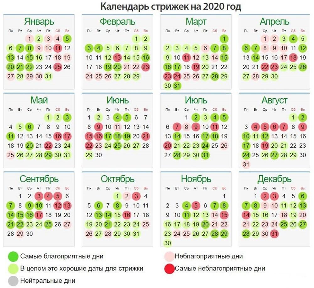 календарь стрижек 2020 скачать