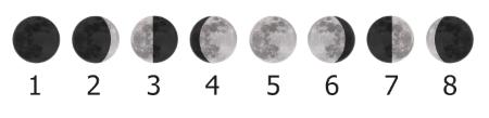 смена фаз Луны