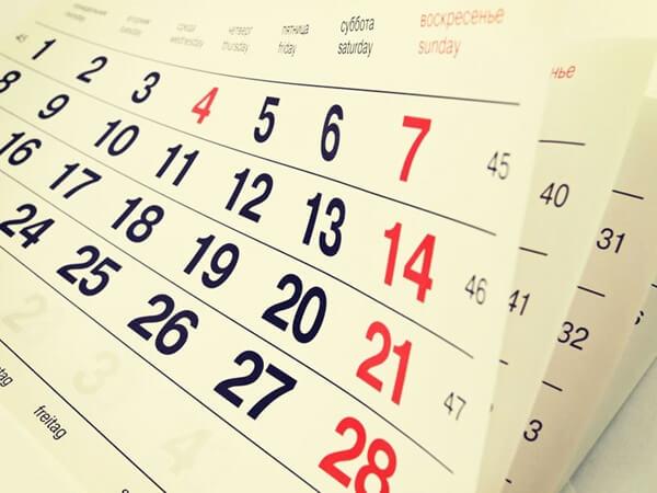 календарь дни недели