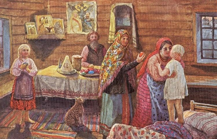 праздник пасхи в старину